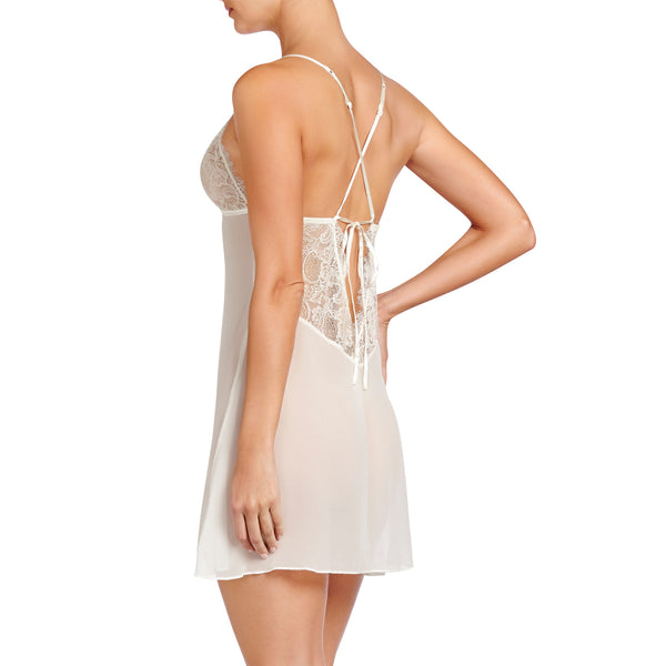 Heidi Klum Intimates Lingerie Valerie Chemise Retro Cream backview
