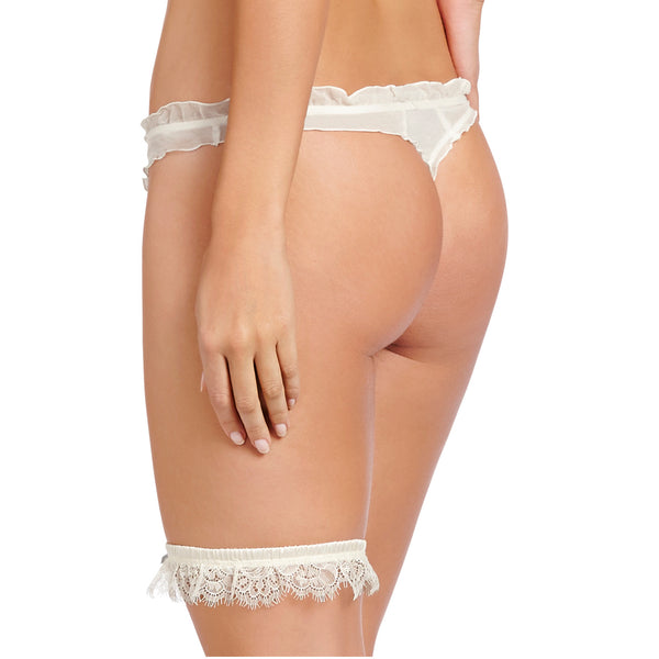Heidi Klum Intimates Lingerie Valerie Garter Retro Cream backview