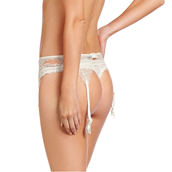 Heidi Klum Intimates Lingerie Valerie Suspender Belt Retro Cream backview