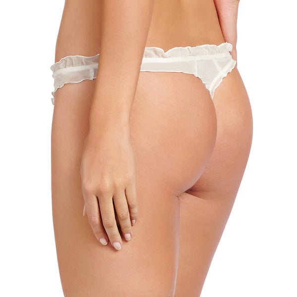 Heidi Klum Intimates Lingerie Valerie Thong Retro Cream backview