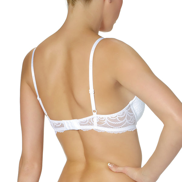 Rosy L'Amour Lace Padded Bra in Blanc White Wedding Lingerie backview