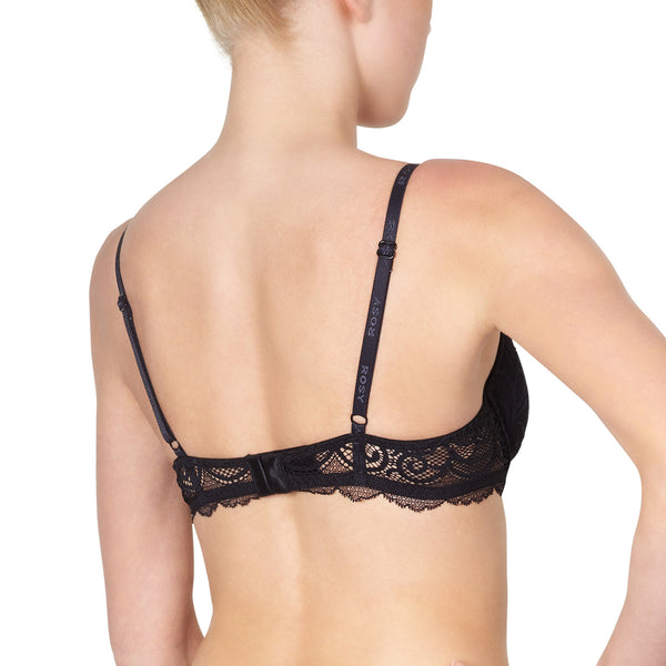 Rosy L'Amour Lace Padded Bra in Noire Honeymoon Lingerie backview