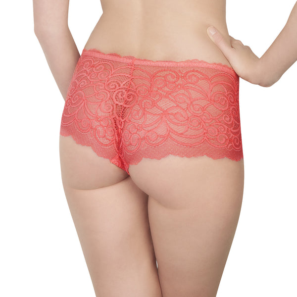 Rosy L'Amour Lace Shorty in Candy Honeymoon Lingerie backview