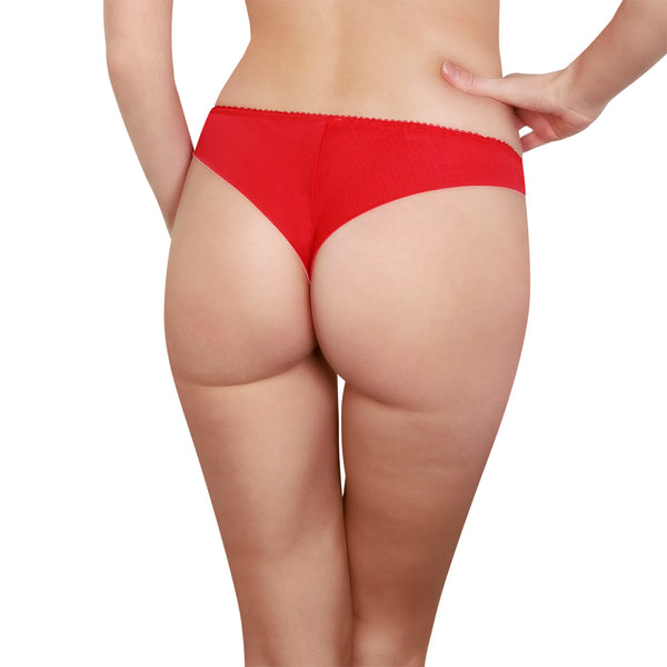 Rosy L'Honorable Tanga in Rouge Honeymoon Lingerie backview