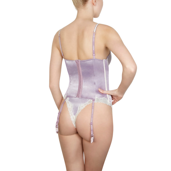 Rosy La Précieuse Torselet in Heather Honeymoon Lingerie backview