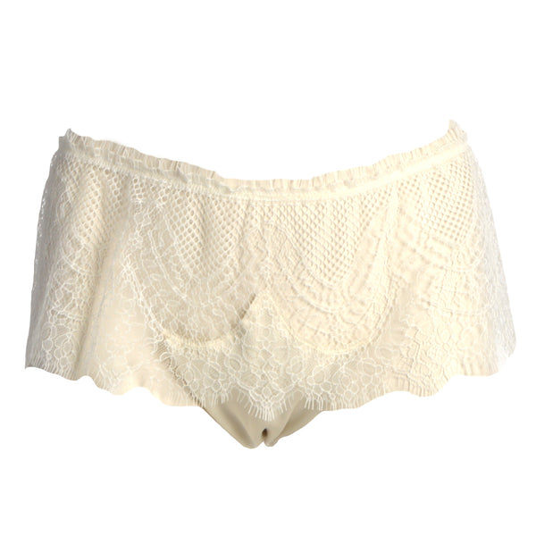 Shell Belle Couture Lingerie Love Story Knicker in Crème Flatview