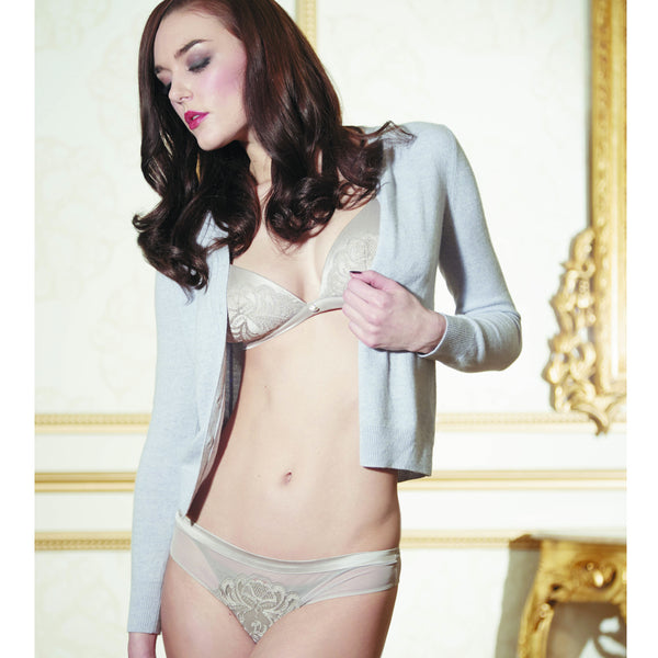 Shell Belle Couture Provoke Demi Brief in Mink Grey Honeymoon Lingerie Fullview