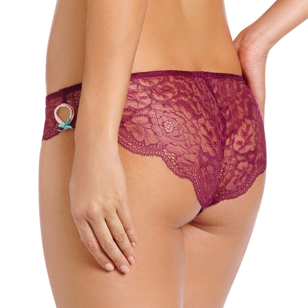 Heidi Klum Intimates Lingerie Cle D'Amour Bikini Brief in Magenta Purple Back
