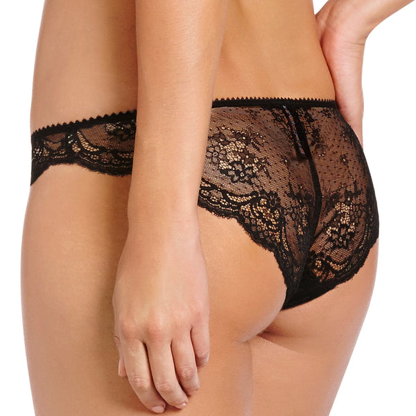 Heidi Klum Intimates Odette black lace brief. Perfect honeymoon lingerie back