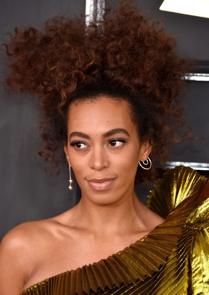 Solange wears Lady Grey at The Grammys