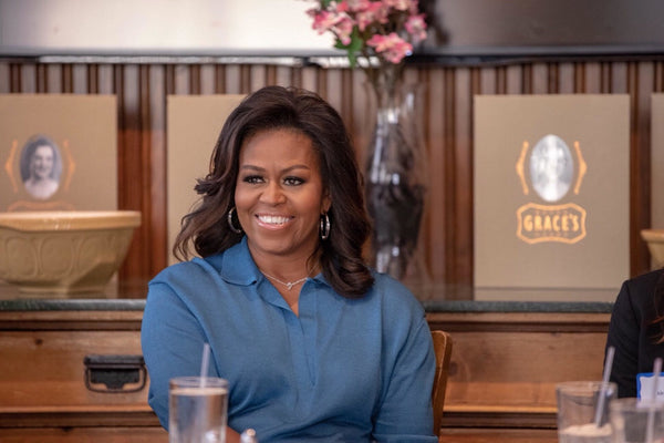 Michelle Obama wears Lady Grey