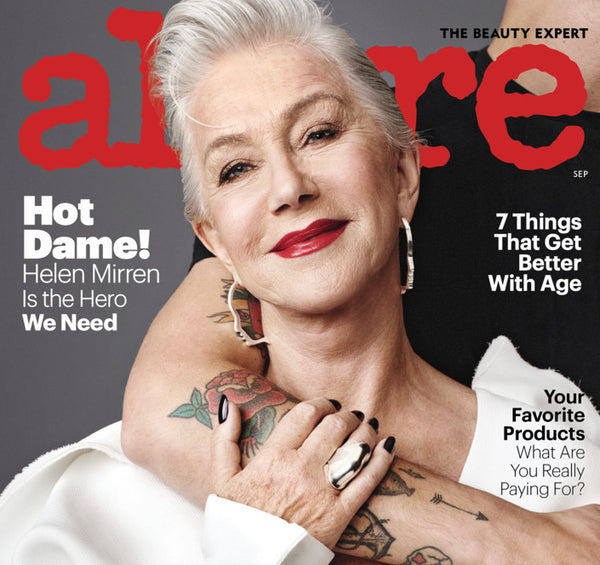 Helen Mirren wears Lady Grey on the cover of Allure!