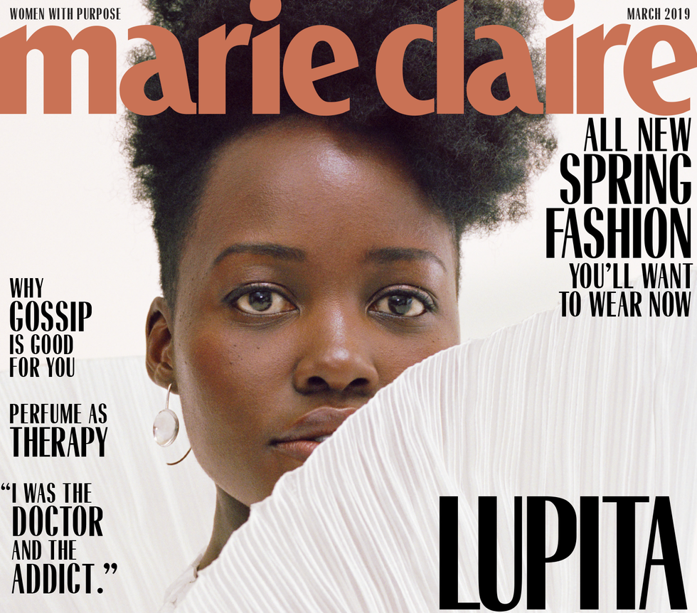 Lupita Nyong'o Wears Lady Grey on the Cover of Marie Claire