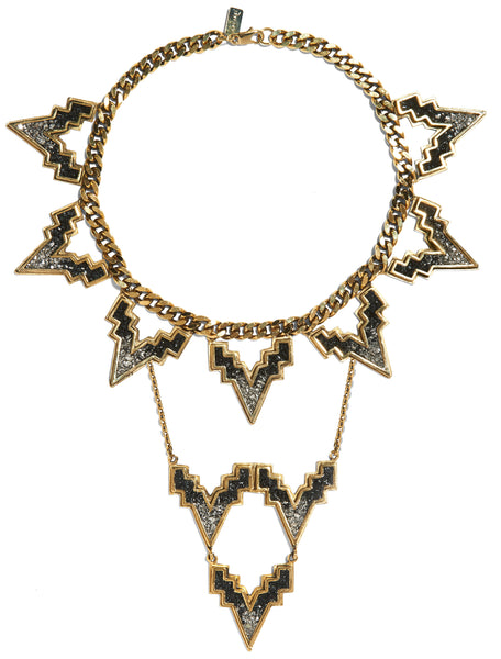 V. Chain Choker / V. Crest Necklace