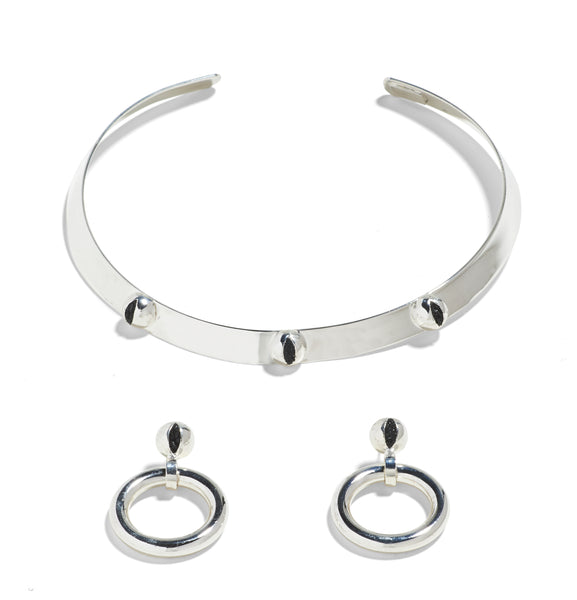 CAT EYE COLLAR / CAT EYE HOOPS