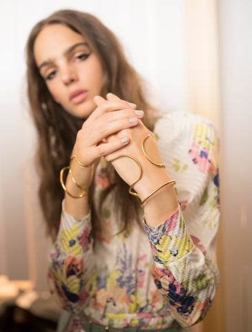 Lady Grey Jewelry Jill Stuart SS18 Runway Backstage