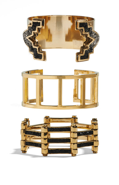 REFLECTED V CUFF / LADDER CUFF / CHANNEL BRACELET