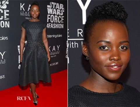 Lupita Nyongo in Lady Grey Earrings by Jill Martinelli and Sabine Le Guyader