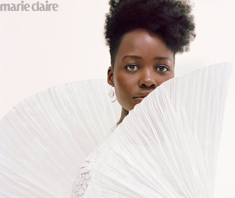 Lupita Nyong'o in Lady Grey Earrings Marie Claire Magazine