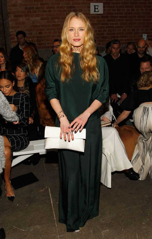 Leven Rambin in Lady Grey Jewelry at NYFW