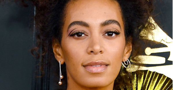 Solange at the 2017 Grammys in Lady Grey Jewelry Concentric Earring