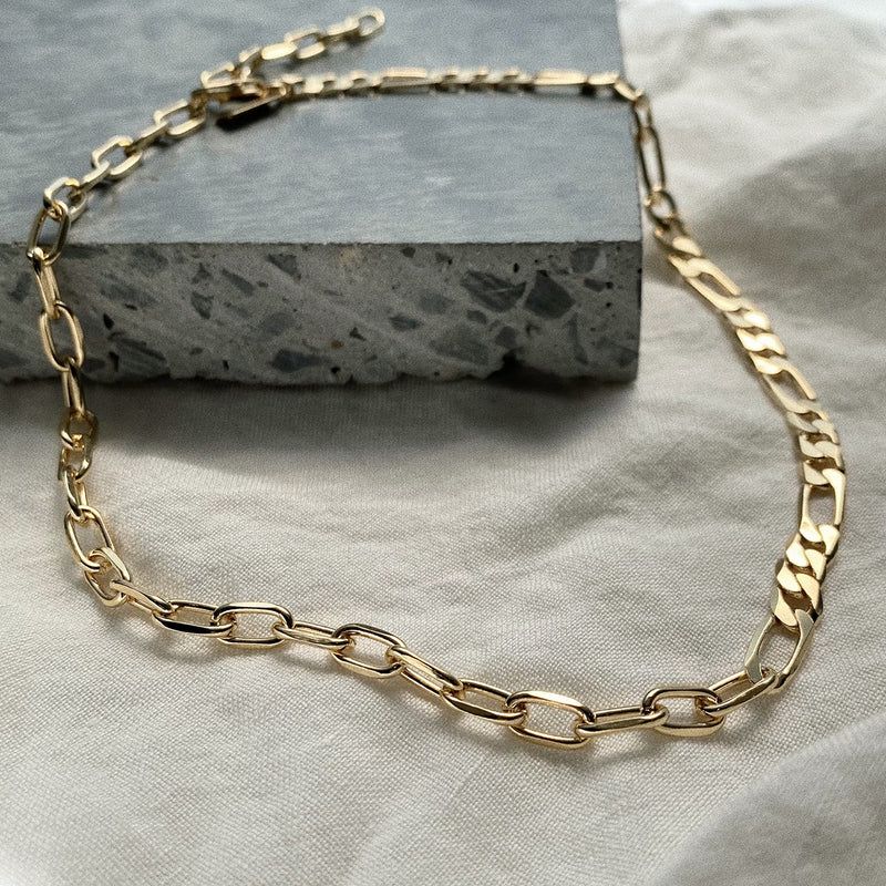 50/50 Necklace in Gold
