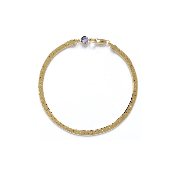 Herringbone Bracelet/Anklet in Gold