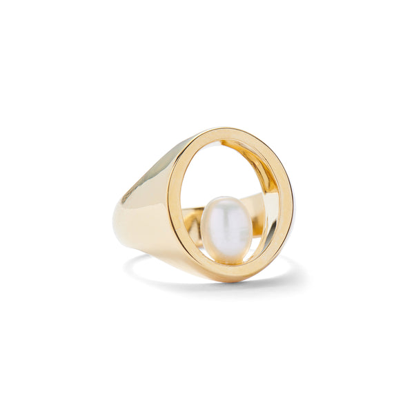 Balance Ring in Gold