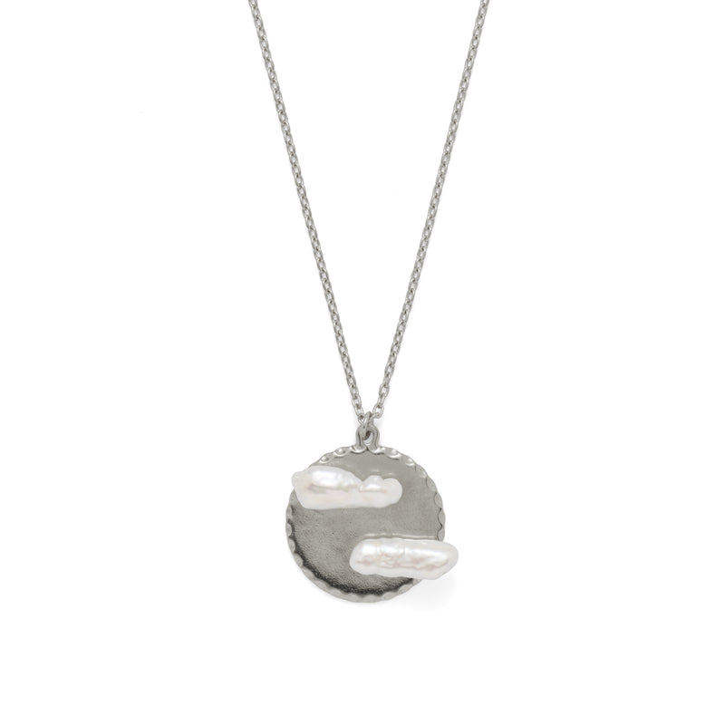 Cloud 9 Necklace in Rhodium