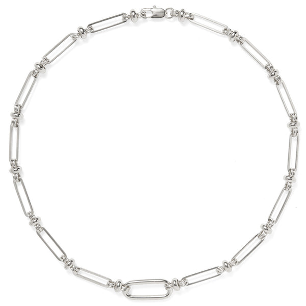 Desi Chain Necklace in Silver