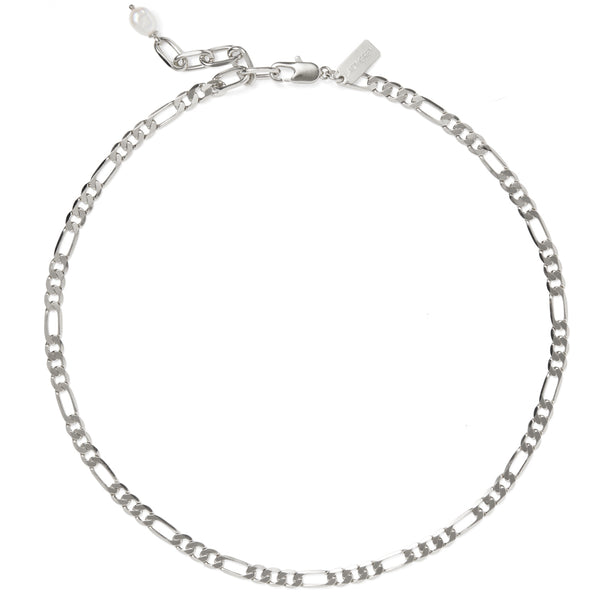 Pearl Figaro Necklace in Silver