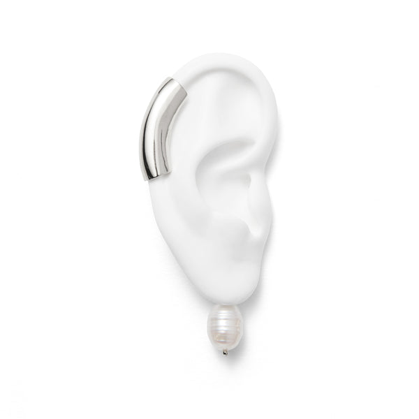Lady Grey Pearl  Helix Ear Guff in Silver