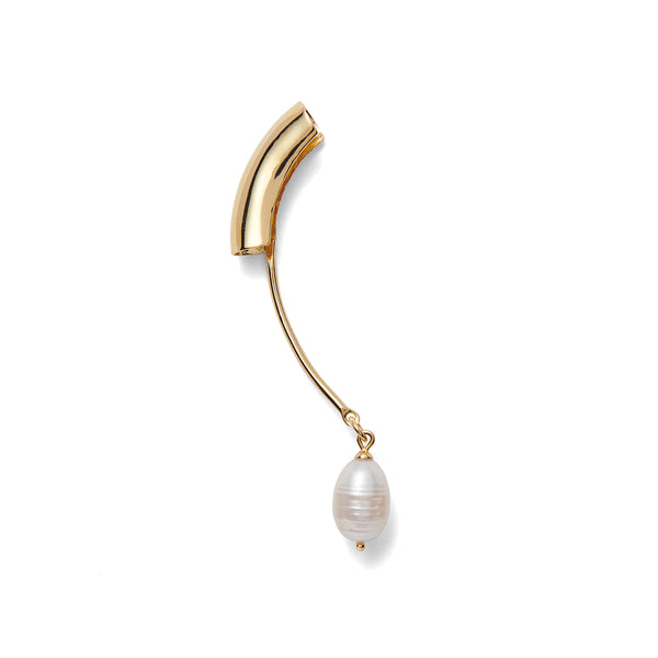 Lady Grey Pearl Helix Earring in Gold