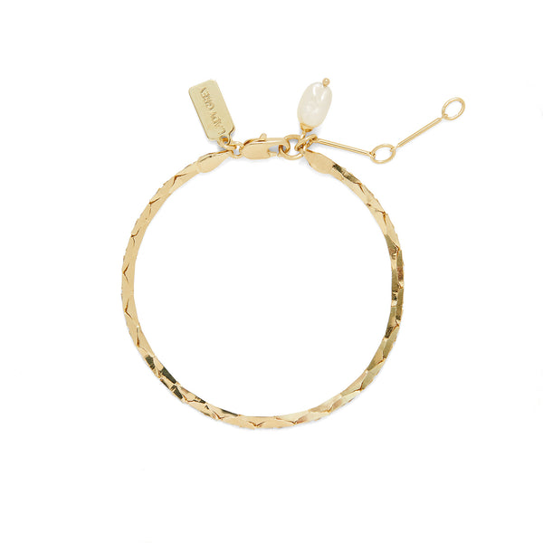 Pearl Cobra Bracelet/Anklet in Gold