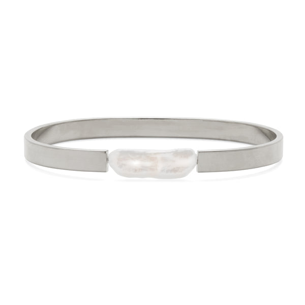 Stratus Bracelet in Rhodium