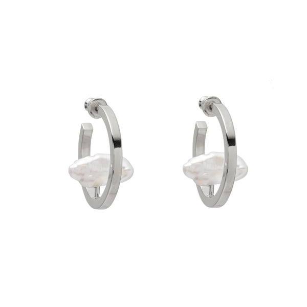 Stratus Earring in Rhodium