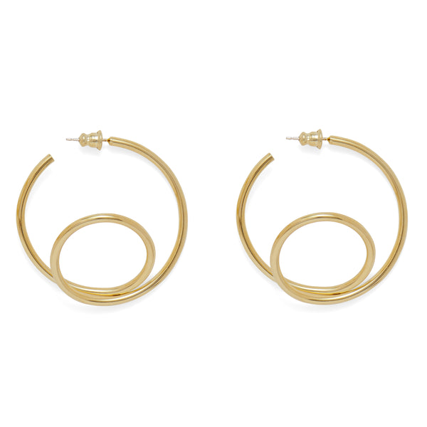 Swerve Hoop in Gold