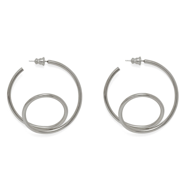 Swerve Hoop in Rhodium