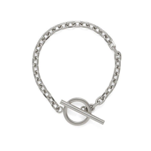 Toggle Bracelet in Rhodium