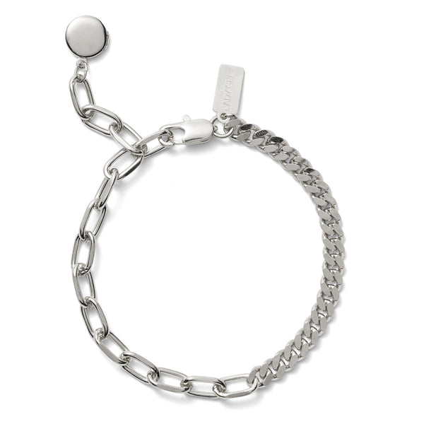 Lady Grey Collage Bracelet in Rhodium
