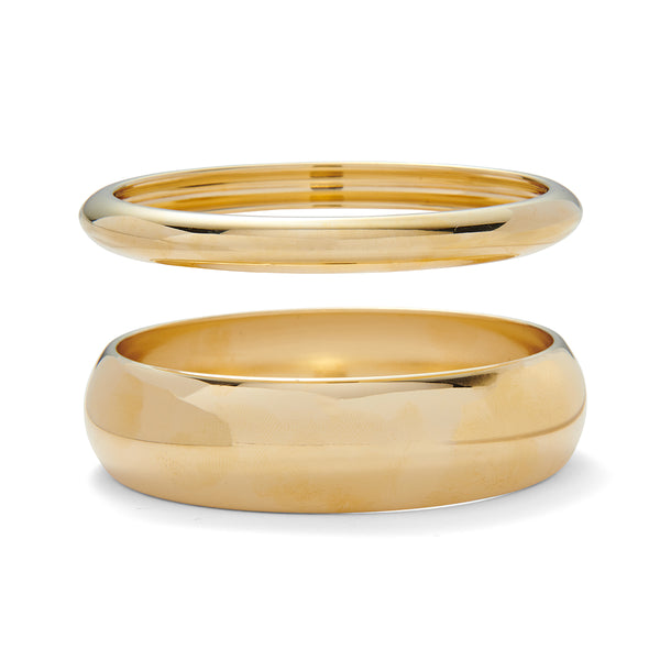 Dome Bangle Set in Gold