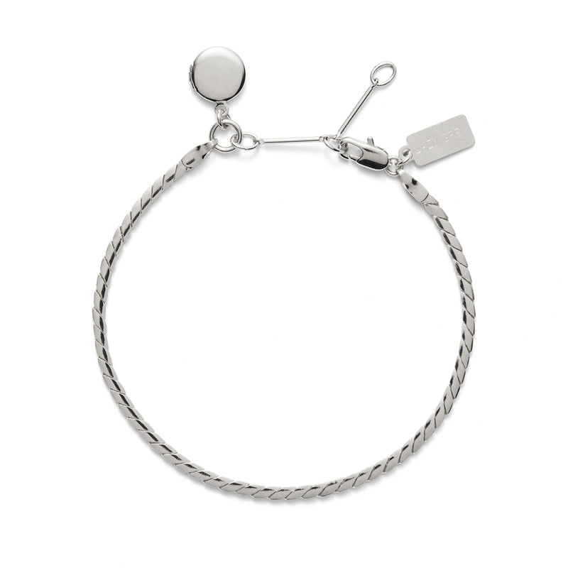 Lady Grey Locket Bracelet in Silver