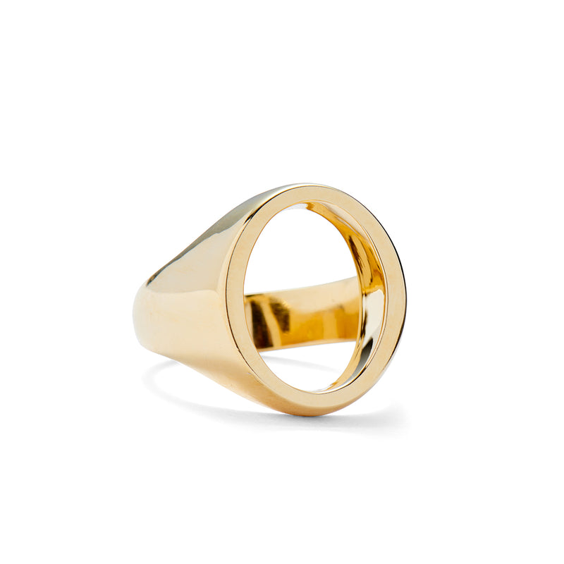 Open Signet Ring in Gold