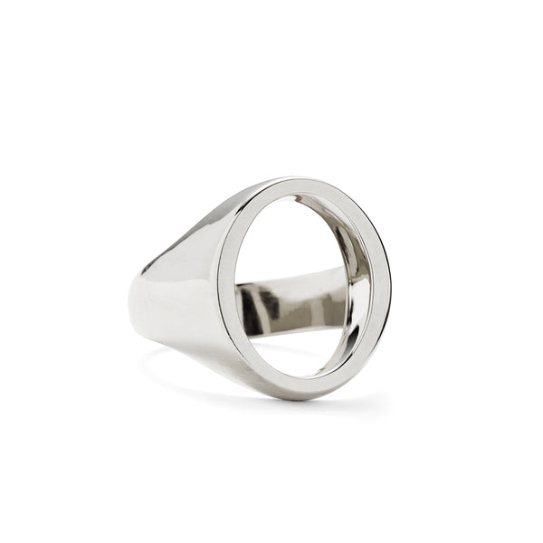 Open Signet Ring in Silver