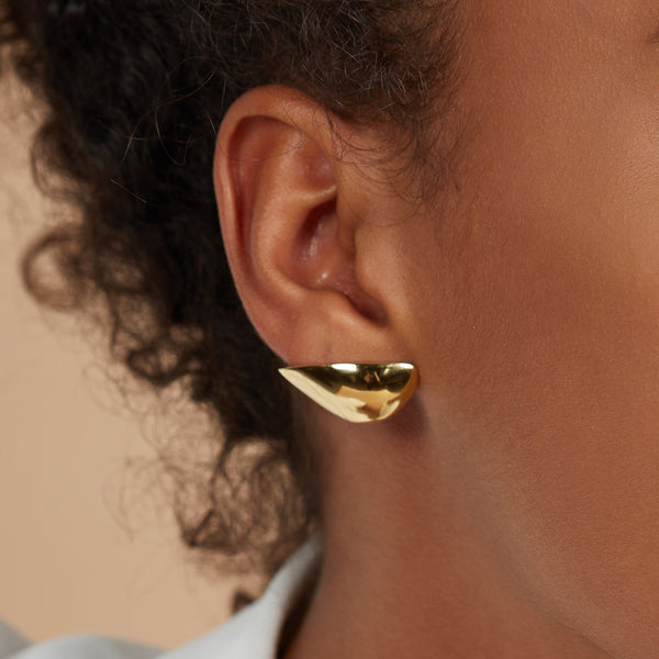 Lady Grey Lobe Earring in Gold