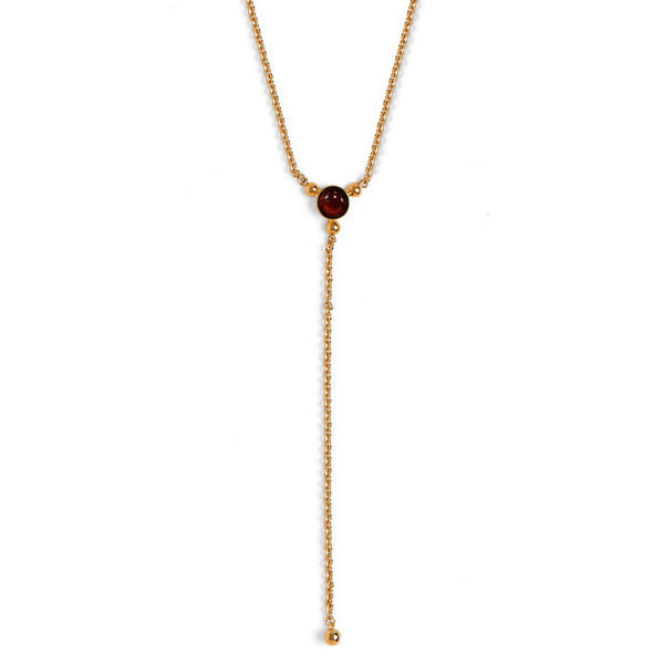 Trinity Lariat with Red Tiger Eye