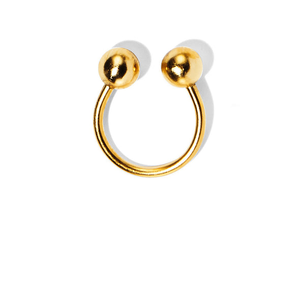 Barbell Ring in Gold