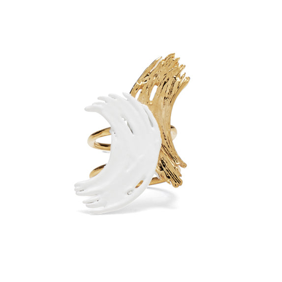Alma Ring in Gold and White