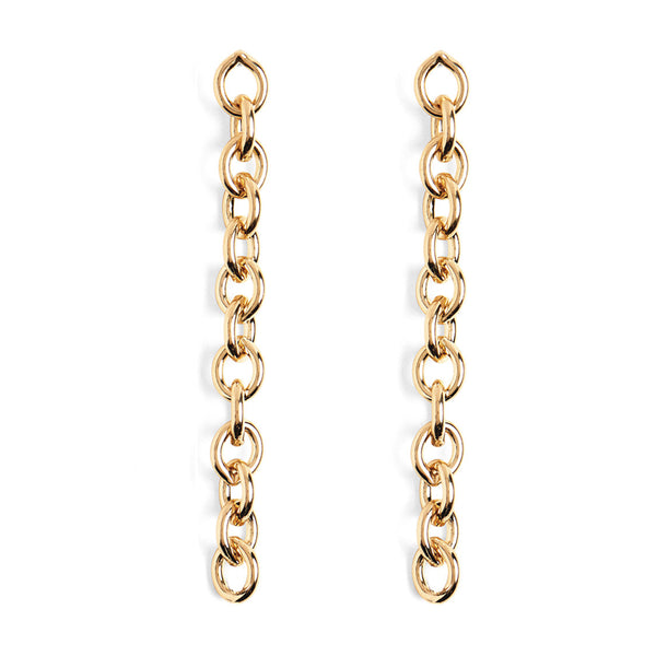 Cable Chain Earrings in Gold