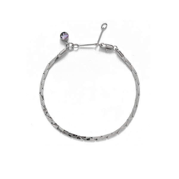 Cobra Bracelet/Anklet in Rhodium